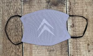 Citroen Chevron face mask white on grey